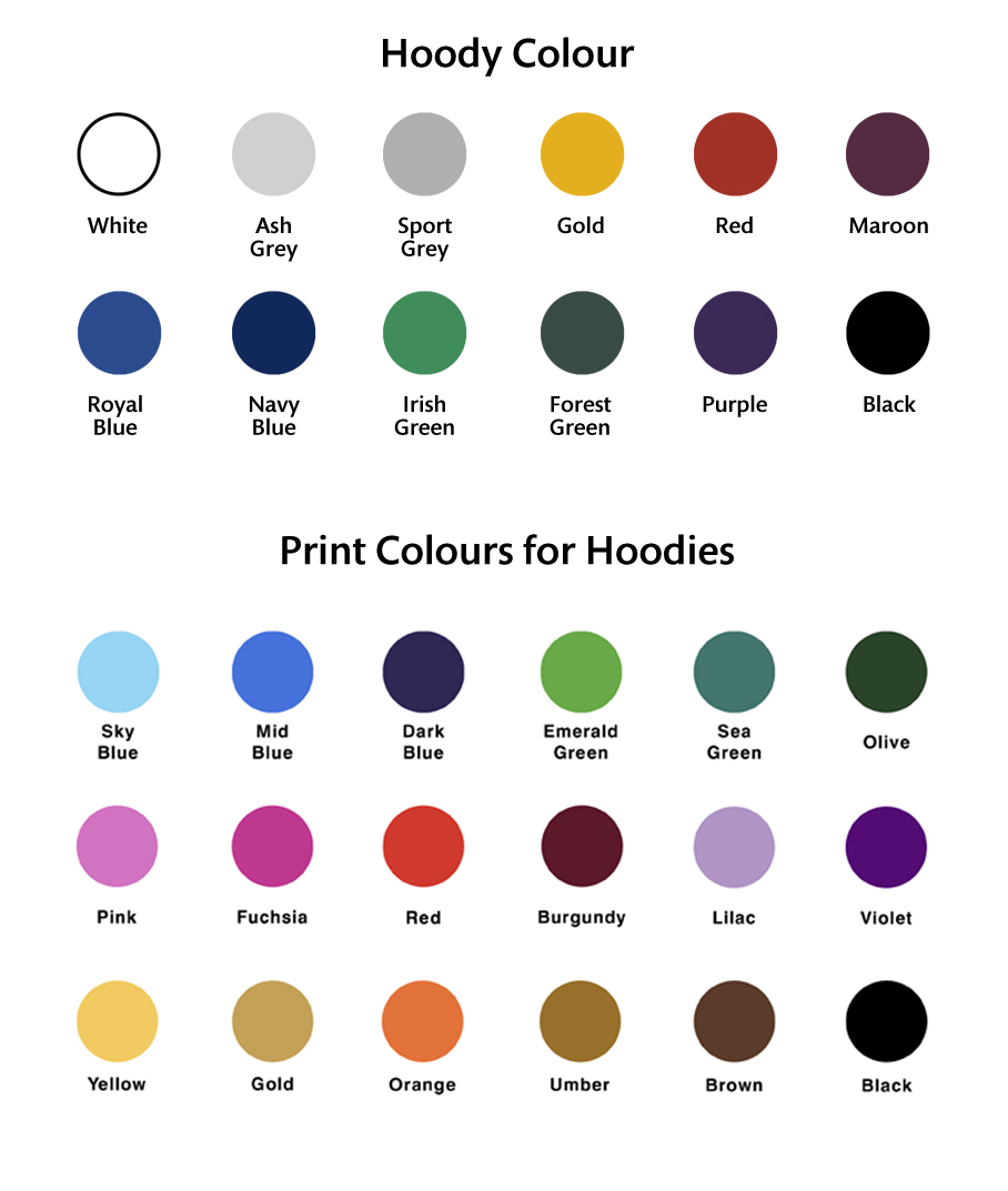 Hoody Colours